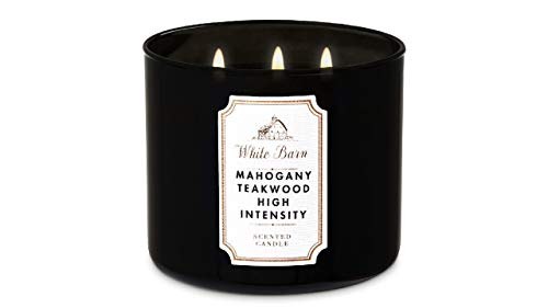 Bath & Body Works White Barn 3-Wick Candle in Mahogany...