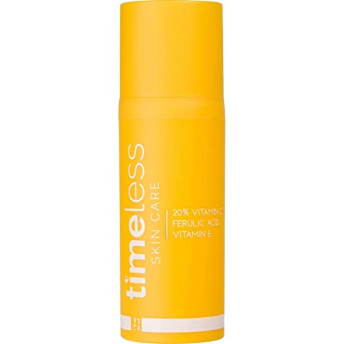 Timeless 20% Vitamin C+E Ferulic Acid Serum in New Airless Pump bottle 30ml