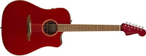 Fender Redondo Classic - California Series Acoustic Guitar - Hot Rod Red Metallic Finish with Gig Bag