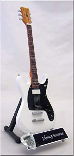 Johnny Ramone Miniatur-Gitarre MOSRITE mit Plektrum