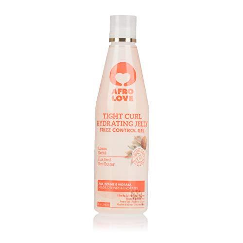 Afro Love Tight Curl Hydrating Lockengel - Frizz Control Leinsamen-Haargel ohne Alkohol, Parabene, Silikone 290ml