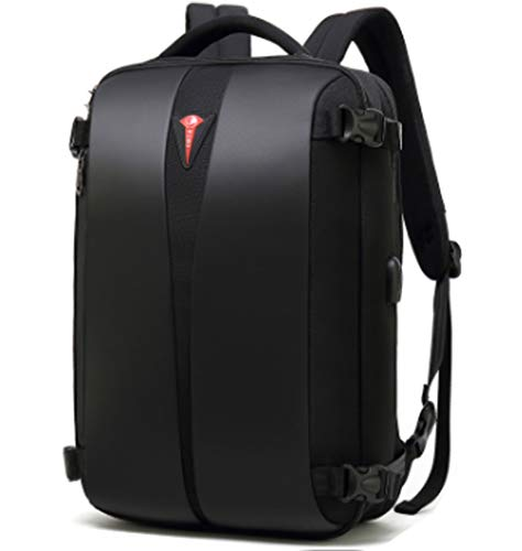 Laptop Backpack Wallet with Password Lock USB Charging Port Fits Most 15.6 Inch Laptops and Laptops, Black Trab Pack