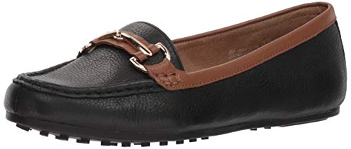 Aerosoles Women's Along Driving Style Loafer, Black Tan Combo, 5.5 M US
