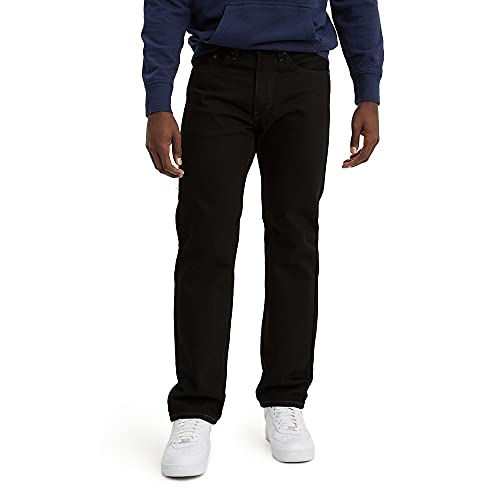 Levi's Men's 505 Regular Fit Jeans, Black, 36W x 32L