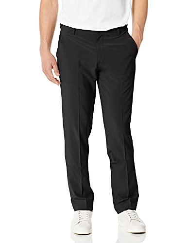 IZOD Men's Golf Swing Flex Stretch Flat Front Pant, black, 36W X 34L
