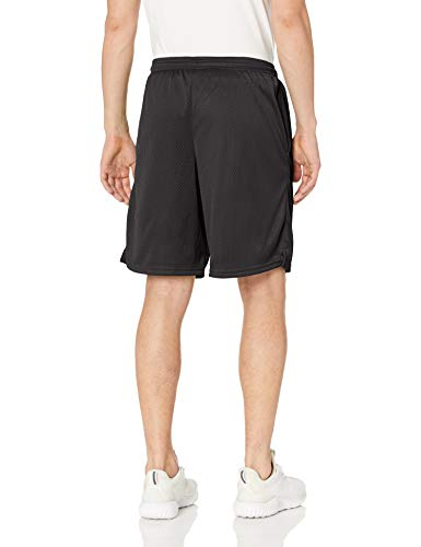 Champion Men's Long Mesh Short With Pockets,Black,Small