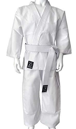 Y-DOUBLE Y–Kimono de Judo, Niño, Blanco, 120