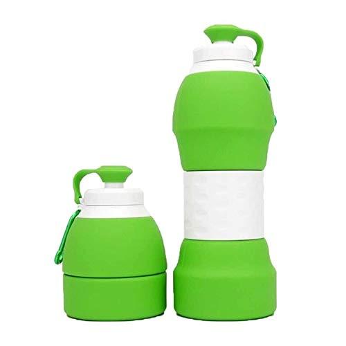 Bruce Dillon Botella de Agua de Silicona portátil 580ML Botella de café...