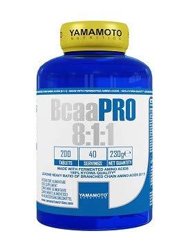 Yamamoto Nutrition Bcaa PRO 8:1:1 integratore alimentare di aminoacidi ramificati in rapporto 8:1:1 200 compresse