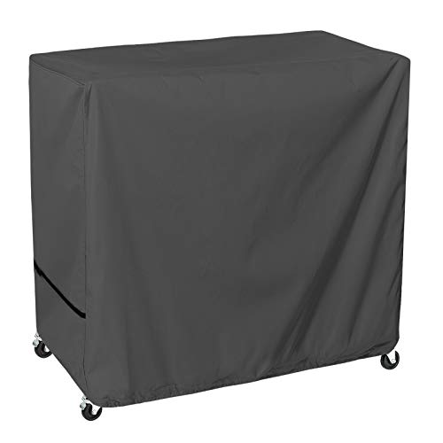 STARTWO Waterproof 80 Qt Rolling Cooler Cart Cover, Heavy Duty Outdoor Cooler Cover Fits Most Patio Ice Chest Party Cooler, 34L x 19W x 31H inch Gray