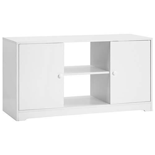 ASSR Soporte de TV de madera con dos puertas y dos pecho,Mueble de TV de decoración del hogar,Soporte de medios con estantes de almacenamiento,Mesa de consola de medios