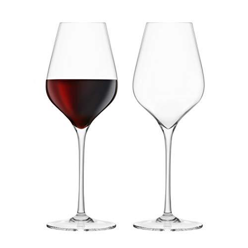 Final Touch 100% Lead-free Crystal Bordeaux Wine Glasses Verre à Vin Rouge de Bordeaux Fabriqué avec du DuraSHIELD Titanium renforcé pour une durabilité accrue - Hauteur 29 cm 680ml - Pack de 2