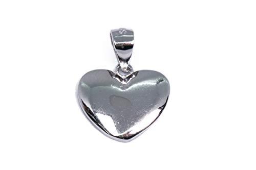 MAGICMOON - Mod. VTP10000331 - Adorabile ciondolo cuore argento 925 rodiato liscio lucido
