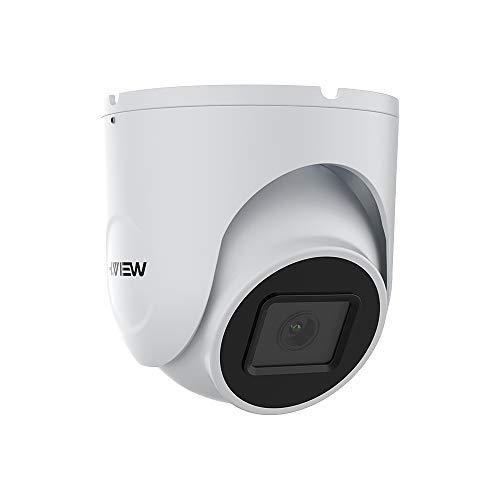 H.VIEW Dome POE Kamera 5MP IP Überwachungskamera 1944P HD 2.8mm Sicherheitskamera mit Mikrofon für Außen/Innen Wetterfest IP66 ONVIF Tag/IR Nachtsicht Bewegungserkennung