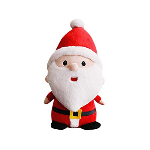 YeahiBaby Muñeco de Papá Noel, peluche, animal, fiesta de Navidad, regalo para niños, decoración de escritorio (23 cm de altura)