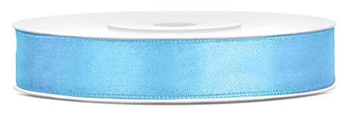 Libetui Satinband 12mm Schleifenband Satin Dekoband Geschenkband Geschenkverpackung, Hochzeitsgeschenk Rolle 25m Farbe Hellblau