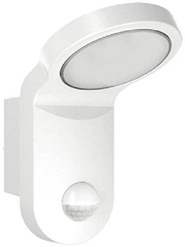 ESYLUX 2386877 LED-Leuchte 14 W mit Bewegungsmelder, 140 Grad, 5000 K, Aluminiumdruckguss und Kunststoff, AOl 100LED 5 K, weiß
