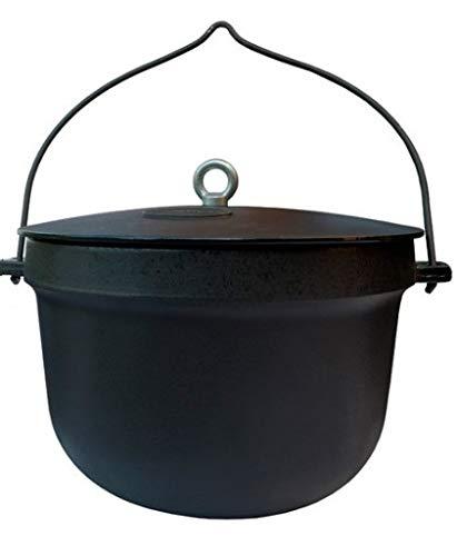 QLS Gusseisen Feuerkessel Feuertopf Kochtopf Dutch Camping Oven mit Deckel 10 ml