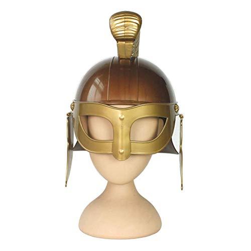 ZLININ Y-longhair - Casco medieval para decoracin del hogar, rplica de casco espartano, escultura de casco antiguo griego antiguo guerrero romano, accesorio para decoracin de Halloween