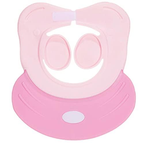 Hanone 1pcs Bebé Infantil Impermeable TPE Ducha Champú Cap Lavar el Cabello Niños Sombreros de baño Rosa