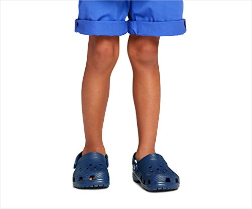 Crocs Kids' Classic Clog | Slip On Shoes for Boys and Girls | Water Shoes, Navy, J5 US Big Kid