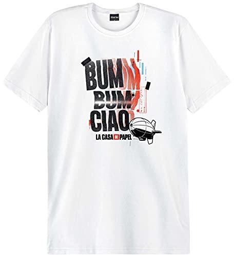 Camiseta Slim La Casa De Papel Unissex Enfim, Branco, Unissex, G