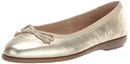 Aerosoles Women's Fast Bet Ballet Flat, Soft Gold Leather, 5 M US