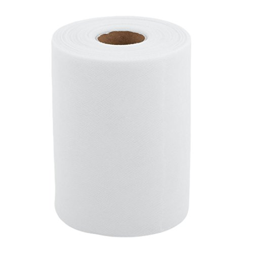 uxcell Polyester Home Tutu Gift Packing Ornament Tulle Spool Roll 6 Inch x 100 Yards White
