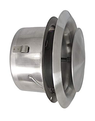 Edelstahl Tellerventil LG-4510 Zuluft Abluftventil DN 100 mit Einbaurahmen