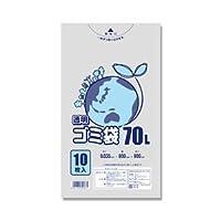 (業務用セット) 透明ポリ袋10枚入70L 【×10セット】