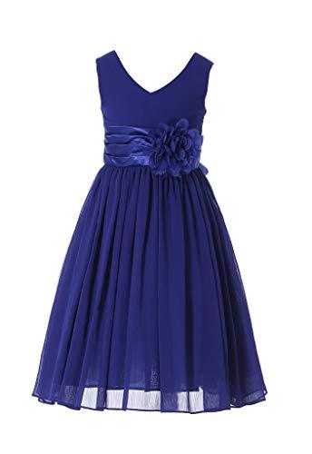 HAPPY ROSE Vestido de Dama de Honor para Niña Vestidos de Fiesta de Graduación Real Azul 14 años