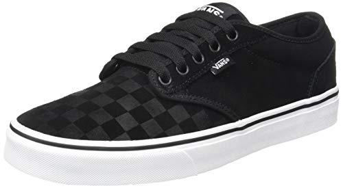 Vans Herren Atwood Sneaker, Schwarz ((Suede Emboss) Black/White Uyh), 45 EU