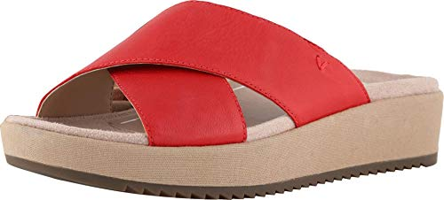 Vionic Women's Tropic Hayden Platform Sandal - Ladies Slide with Concealed Orthotic Arch Support Cherry 8.5 M US