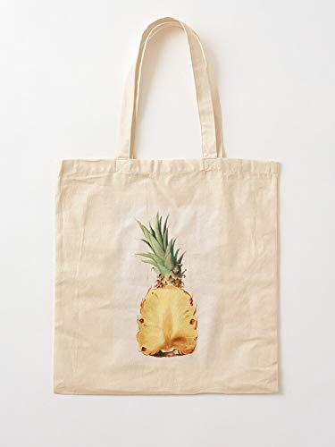 Cook Food Kitchen Pineapple Pineaple Fruit Cooking Vegetable Tote Cotton Very Bag | Bolsas de supermercado de lona Bolsas de mano con asas Bolsas de algodón duraderas