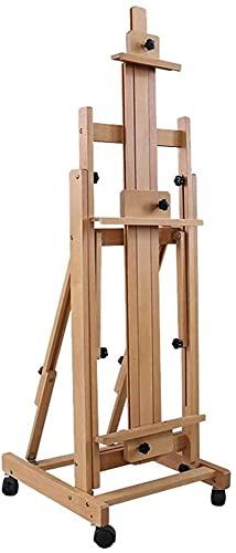 Beech Wood horizontal y vertical dual uso de la pintura china tradicional petróleo, aterrizaje de madera maciza plegado profesional grande facil de caballete, soporte de exhibición multifuncional