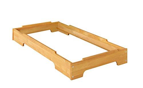 BioKinder 22822 Kai Stapelbett Stapelliege Kinderbett aus Massivholz Erle 70 x 140 cm