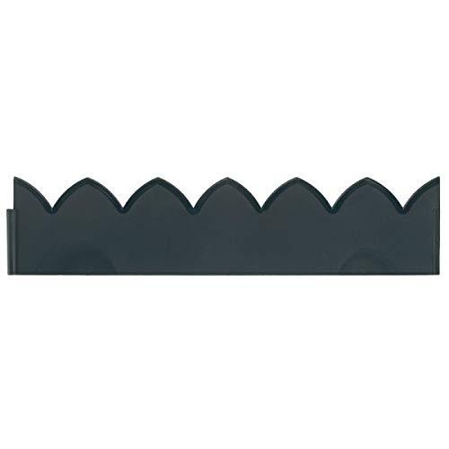 garden mile® Lot de 4 clôtures de Jardin décoratives Style Victorien en cuivre, doré et Noir en Plastique pour pelouse, lit de Fleurs et Bordure de terrasse Scallop Edging