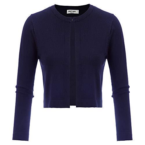 GRACE KARIN Damen Cropped Knit Bolero für Kleid Open Front Kurz Strickjacke Elegant Cardigan L CL942-3
