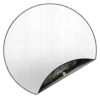 Round Fire Pit Mat Deck Protector 38'', CestMall Fireproof Pad Heat Deflector BBQ Floor Protective Mat 2 Layers Fire Resistant for Under Outdoor Grill, Deck Defender, Chiminea, Grass, Patio from CestMall