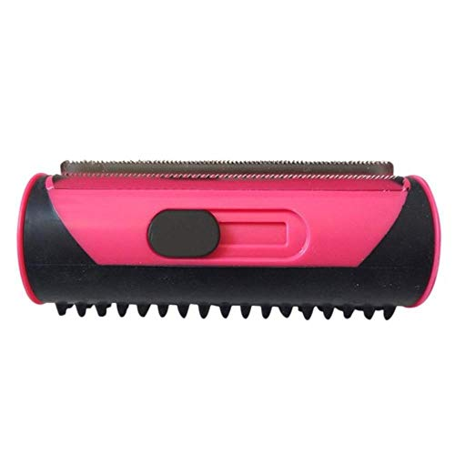 EMOHKCAB Pet Hair Remover Lint Roller Dog Cat Puppy Cleaning Brush Dogs Cats Hair Sofa Carpet Cleaner Brushes, Red