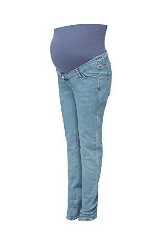ESPRIT Maternity Damen Pants Denim OTB Slim Umstandsjeans,Blau (Blue Grey Wash 970),34/32