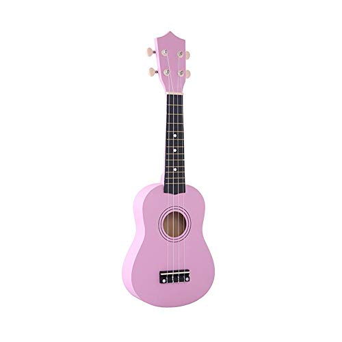21-Zoll-Holz Ukulele Ukulele Kinder Vier-Saiten Kleine Gitarre Farbe Ukulele Gitarre Reisegitarre Ukulele Kit ( Color : Pink )