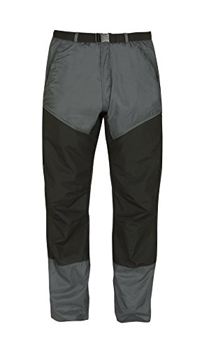 Paramo Directional Clothing Systems Velez Adventure da Uomo Impermeabile Pantaloni, Uomo, Velez Adventure, Rock Grey/Black, Size 14S