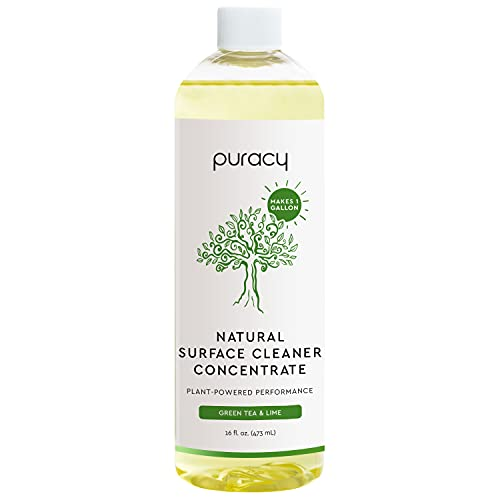 Product Image of the Puracy Multi-Surface Cleaner Concentrate, Makes 1 Gallon, Green Tea & Lime, Household Natural All Purpose Cleaning Solution