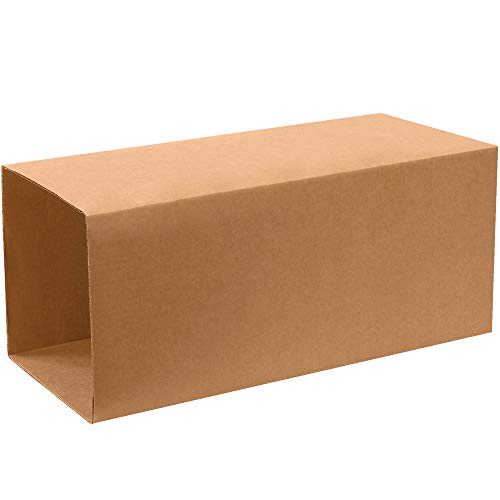 """Aviditi T202040INNER Telescoping Corrugated Cardboard Box 20"""" L x 20"""" W x 40"""" H, Kraft, for Shipping, Packing and Moving (Pack of 10)"""