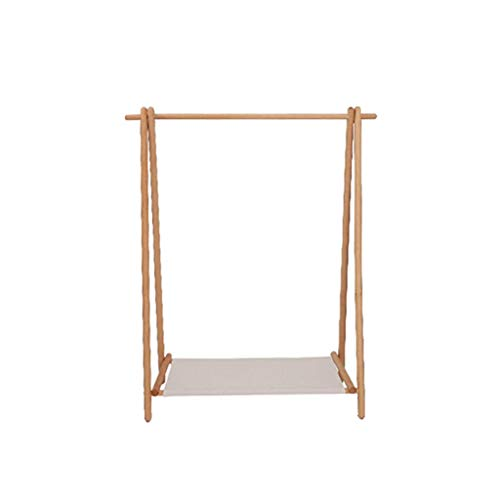 CSQ-Wall Coat Racks Solid Wood Clothes Rail, Heavy Home Coat Racks Japanese-Style Simplicity Clothing Display Stand Open Wardrobe Clothes Shelves (Color : B, Size : 95150CM)