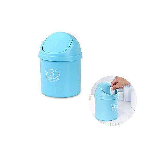 1 Pcs Schreibtisch-Mülleimer, Mini-Papierkorb, Kunststoff Abfalleimer Schreibtisch Mülleimer, Aufbewahrungsbox mit Schwingendem Deckel, Schwing Deckeleimer für Büro, zu Hause, Küche