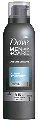 Dove Men+Care Duschschaum, Clean Comfort 3in1: Dusche, Rasur, Pflege, 200 ml, 6er Pack (6 x 200 ml)