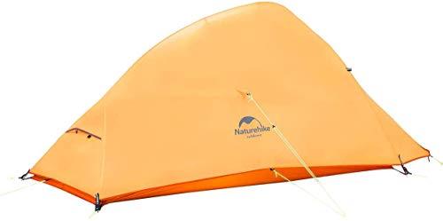 Naturehike公式ショップテント2人用アウトドア二重層超軽量4シーズン防風防水PU4000キャンピングプロフェッショナルテントCloudUp2(専用グランドシート付)(オレンジ(210Tアップグレード版))