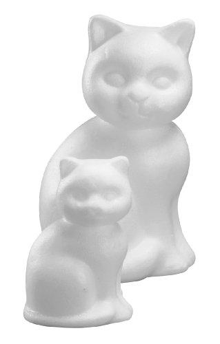Rayher 3320200 Styropor-Katze, 23 cm